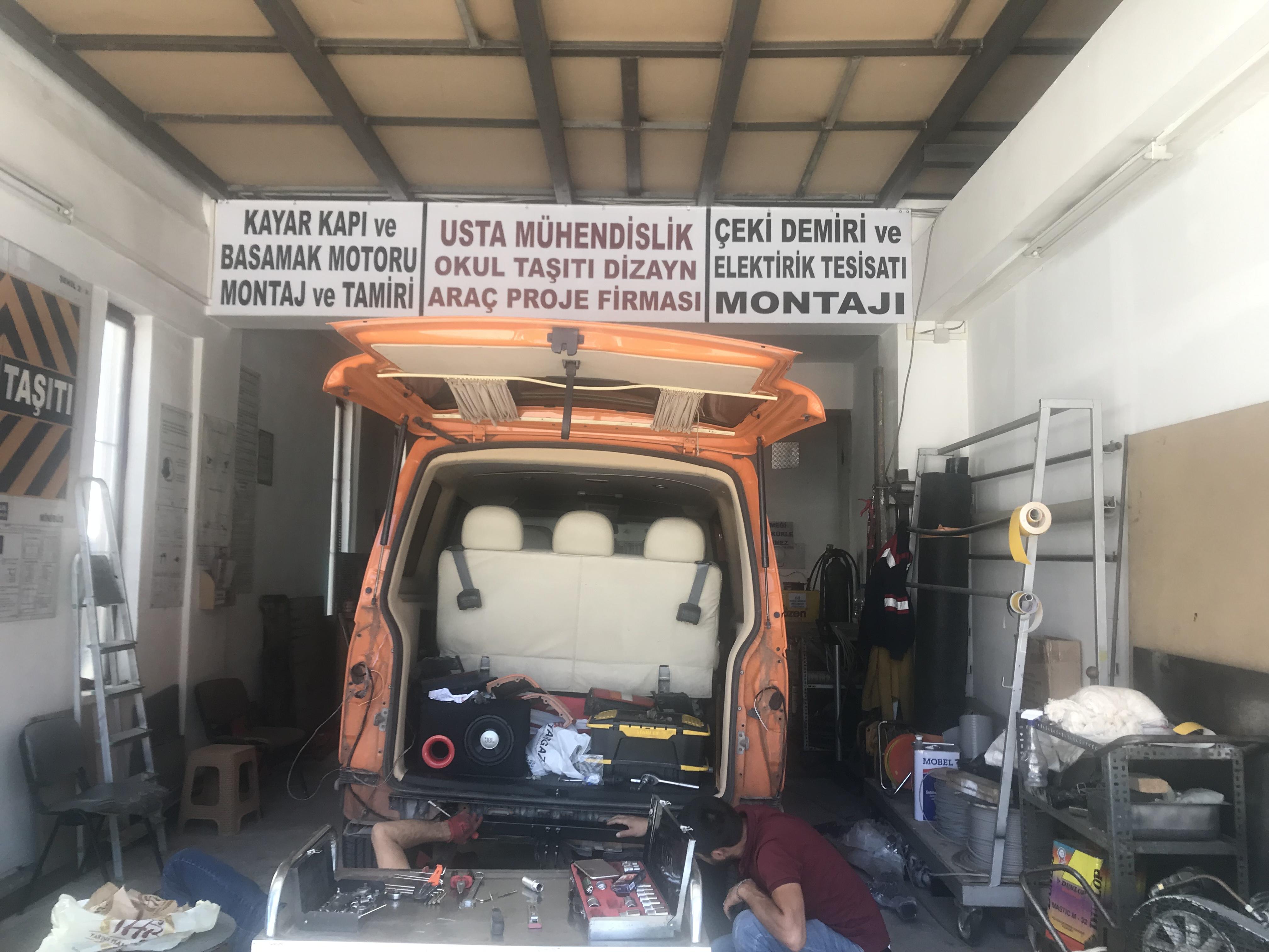 VOLSWAGEN TRANSPOTER⇔ ÇEKİ DEMİRİ TAKMA MONTESİ ⇔ ARAÇ PROJE ANKARA