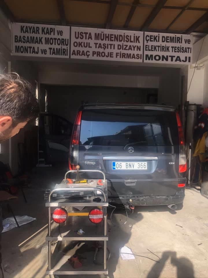 Mercedes Viano ⇔ takma montajı araç proje ANKARA. Çeki Demiri ⇔ takma montajı araç proje ANKARA.